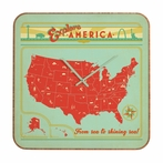 Explore America Square Wall Clock