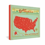 Explore America Wrapped Canvas Art