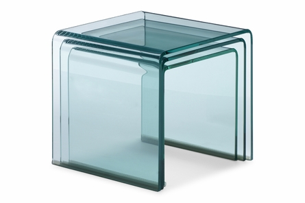 Explorer Tables in Clear - Set of 3