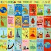Exploring the World from A-Z Canvas Wall Art