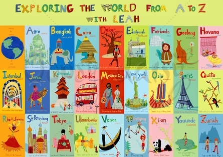 Exploring the World From A-Z Placemat
