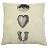 Eye Heart You Throw Pillow