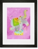 Ezmeralda the Elephant Framed Art Print
