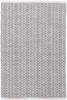 Fair Isle Woven Cotton Rug in Grey and Platinum