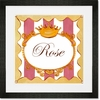 Fairest Girl - Rose Framed Art Print