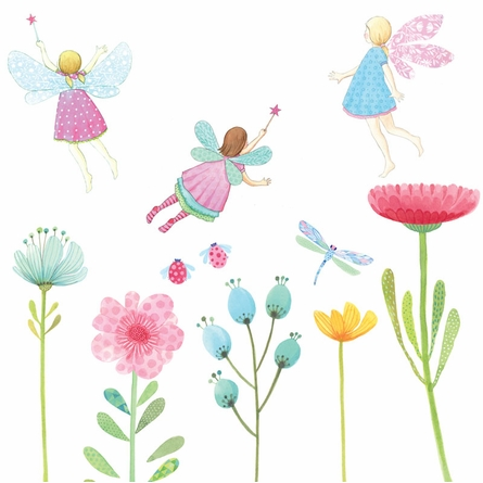 Fairy Garden Fabric Wall Decals