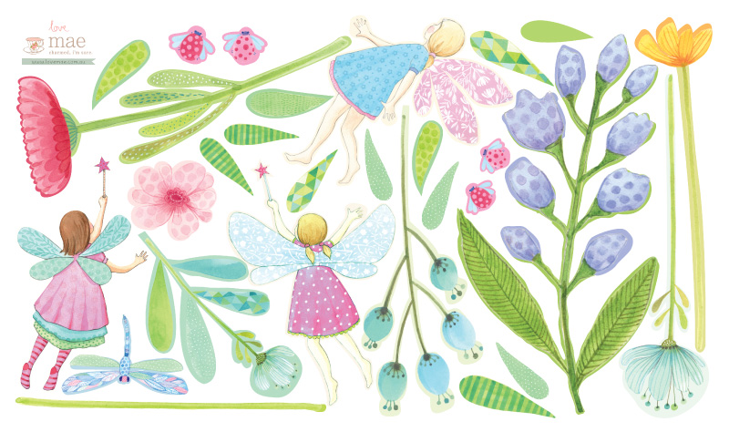 Fairy Garden Fabric Wall Decals By Love Mae