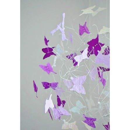 Fairy Garden Purple Butterfly Mobile