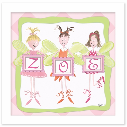 Fairy Monogram Canvas Reproduction