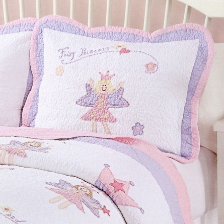 Fairy Princess Garden Quilt with Pillow Sham