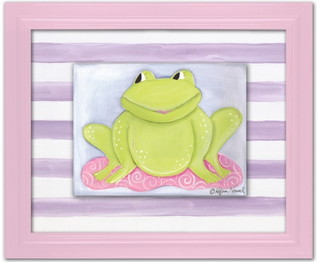 Faith Frog Personalized Framed Canvas Reproduction