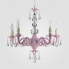 Faith Gloss Pink Clear Crystal Chandelier