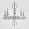 Faith Matte White Clear Crystal Chandelier