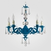 Faith Neon Blue Clear Crystal Chandelier