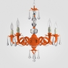 Faith Neon Orange Clear Crystal Chandelier