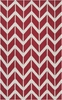 Fallon Arrows Flat Weave Rug in Brick Red