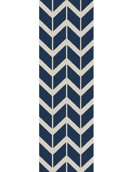Fallon Arrows Flat Weave Rug in Cobalt