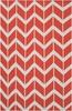 Fallon Arrows Flat Weave Rug in Coral
