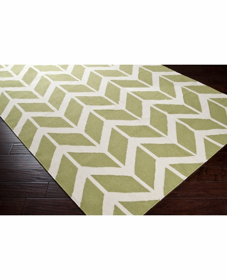 Fallon Arrows Flat Weave Rug in Lime