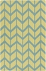 Fallon Arrows Flat Weave Rug in Lime and Teal