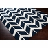 Fallon Arrows Flat Weave Rug in Navy