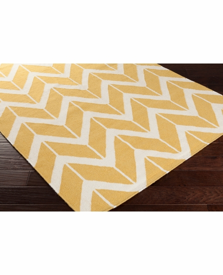 Fallon Arrows Flat Weave Rug in Squash
