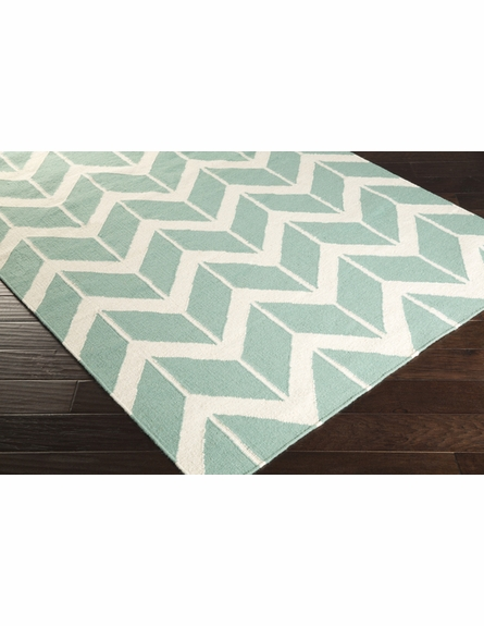 Fallon Arrows Flat Weave Rug in Teal