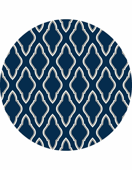 Fallon Diamonds Flat Weave Rug in Cobalt