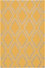 Fallon Diamonds Flat Weave Rug in Mustard
