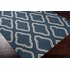 Fallon Diamonds Flat Weave Rug in Navy