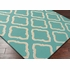 Fallon Diamonds Flat Weave Rug in Teal