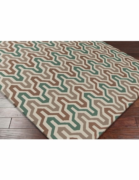 Fallon Flat Weave Rug in Ivory and Mocha