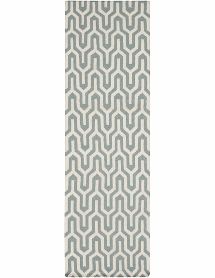 Fallon Flat Weave Rug in Ivory and Olive