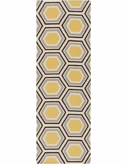 Fallon Honeycomb Flat Weave Rug in Ash