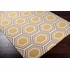 Fallon Honeycomb Flat Weave Rug in Mustard
