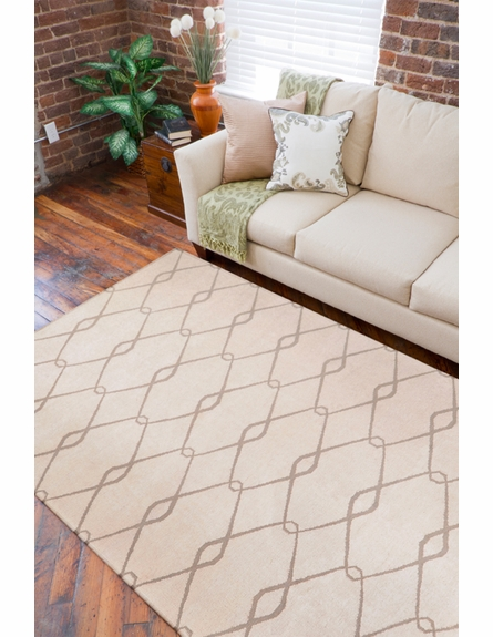 Fallon Links Flat Weave Rug in Cream