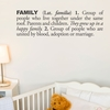 Family in Charcoal Wall Decal
