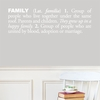 Family in White Wall Decal