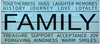 Family Inspirational Vintage Slat Wall Sign
