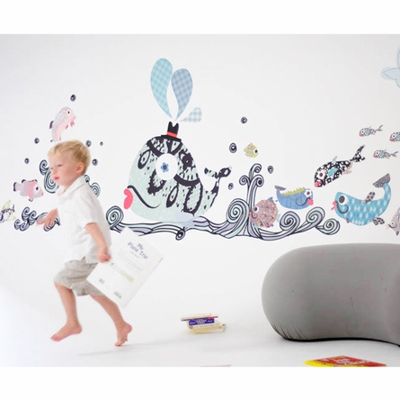 Fanciful Fishies Fabric Wall Decals