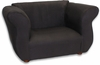 Fancy Chair in Black Microsuede