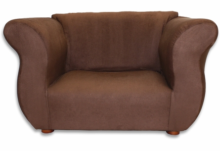 Fancy Chair in Brown Microsuede