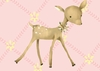 Fancy Fawn in Powder Pink Canvas Wall Art