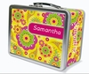 Fancy Flowers Personalized Lunch Box