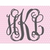 Fancy Interlock Dotted Monogram Canvas Wall Art
