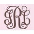 Fancy Interlock Striped Monogram Canvas Wall Art