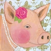 Fancy Pig Canvas Reproduction