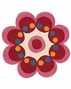 Fantasia Flower Rug in Fuchsia