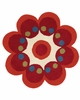 Fantasia Flower Rug in Red