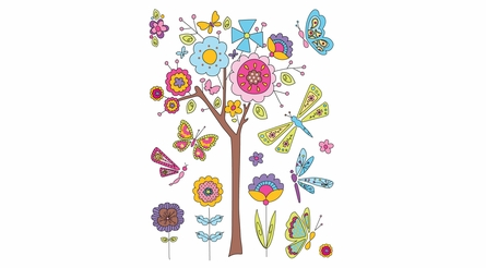Fantasy Garden Wall Decals